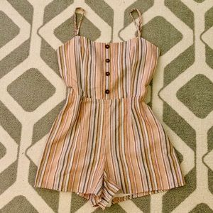 Altar'd State Other - ALTAR'D STATE (NWOT)✨STRIPED CUT-OUT ROMPER